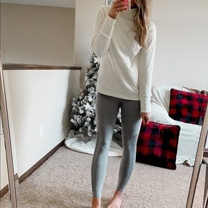 Gray and white fabletics set